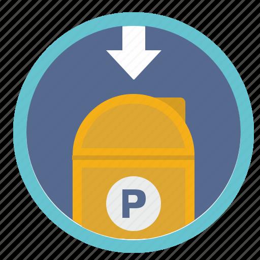 inbox, mail, post, round, service, traffic icon
