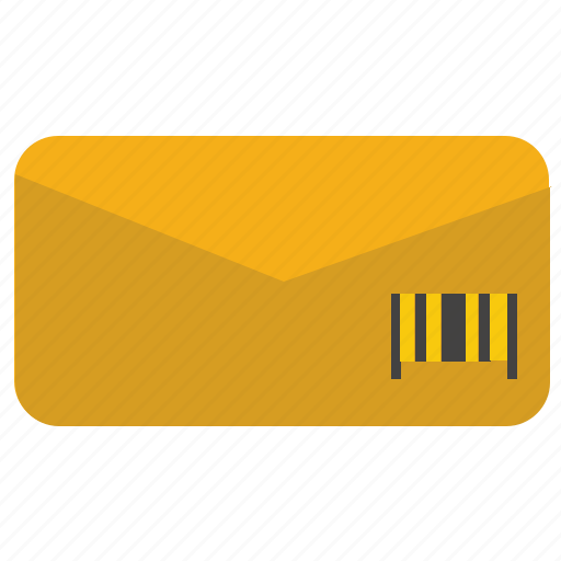 barcode, delivery, letter, mail, post icon