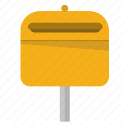 box, mail, mailbox, post, stand, street icon