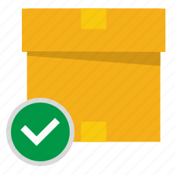 box, complete, delivery, mail, mailbox, ok icon