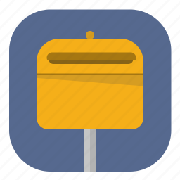 app, application, mail, post, stand, street icon