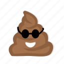 character, cute, emoticon, feces, funny icon