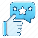 appreciations, bubble, feedback, rate icon