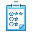 clipboard, note, rate, survey icon