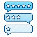 bubbles, comment, feedback, rate icon