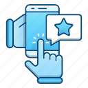 feedback, job, online, rate icon