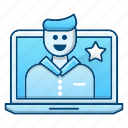 chat, feedback, online, rating, video icon