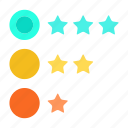 achievement, feedback, rate, rating, review, star