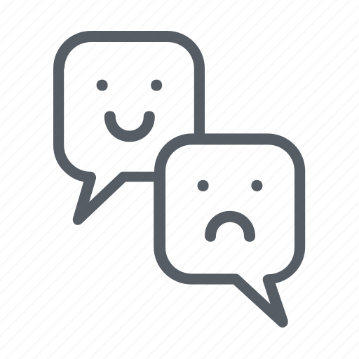 bad review, conversation, customers, feedback, rating, review, voting icon