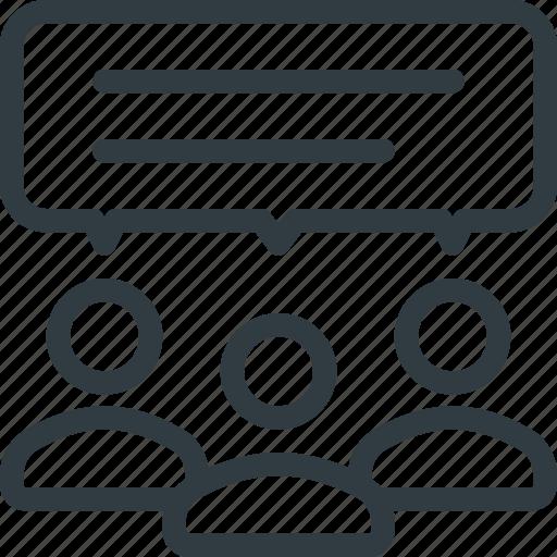 feedback, group, response icon