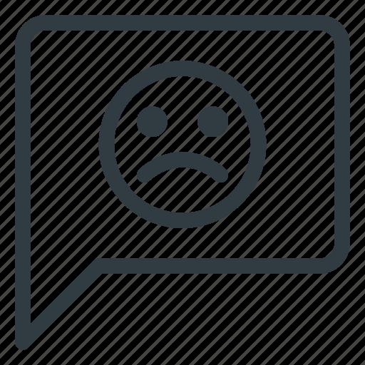 bad, feedback, message, negative, sad icon