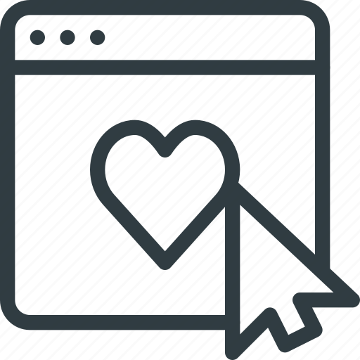 application, feedback, heart, like, love, rating icon