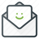 feedbac, feedback, mail, positive, sad icon