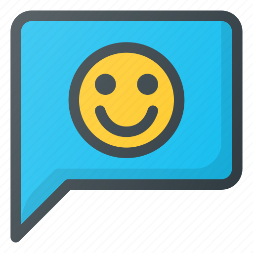 feedback, like, message, positive, smile icon
