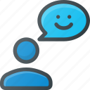 feedback, positive, user icon