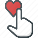 feedback, heart, like, rating, touch icon