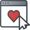 application, feedback, heart, like, love, rating icon
