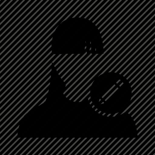 avatar, edit, girl, lady, pencil, profile, women icon