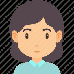 avatar, fashion, female, girl, hair, hairstyle, profile icon
