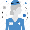 doctor, female, medic, medicine, physician, surgeon, woman icon