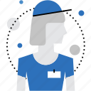 avatar, employee, female, personnel, staff, woman, worker