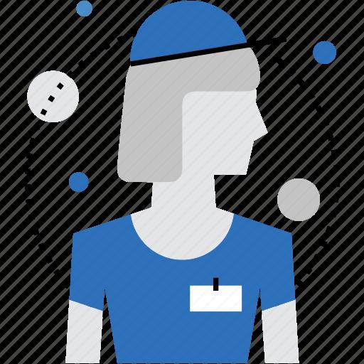 avatar, employee, female, personnel, staff, woman, worker icon