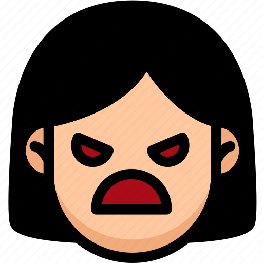 Angry, emoji, emotion, expression, face, feeling icon - Download on Iconfinder