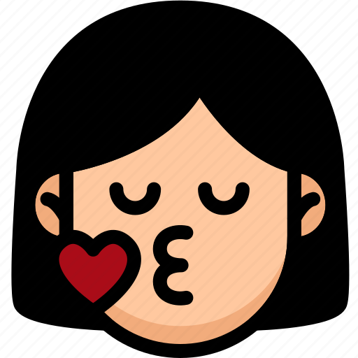 Emoji, emotion, expression, face, feeling, kiss icon - Download on Iconfinder