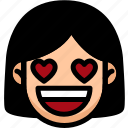 emoji, emotion, expression, face, feeling, love icon