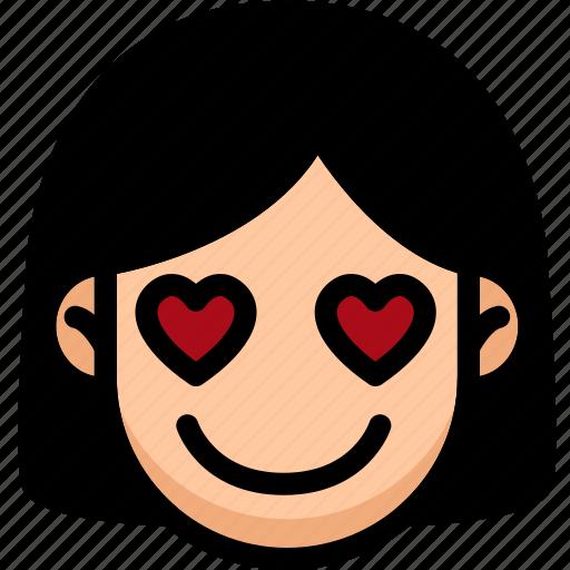Emoji, emotion, expression, face, feeling, love icon - Download on Iconfinder