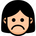emoji, emotion, expression, face, feeling, sad