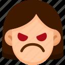 angry, emoji, emotion, expression, face, feeling