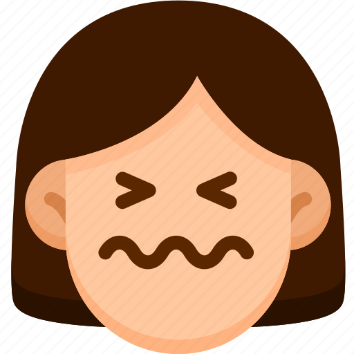 Emotion, confounded, face, feeling, expression, emoji icon