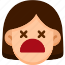 dead, emoji, emotion, expression, face, feeling icon