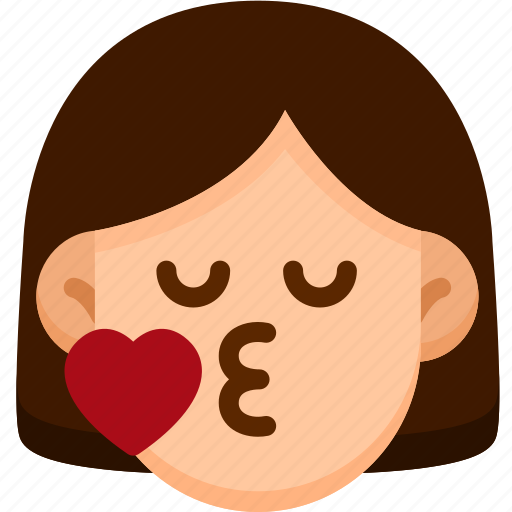 Emotion, face, kiss, feeling, expression, emoji icon