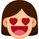 emoji, emotion, expression, face, feeling, love