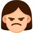 emoji, emotion, expression, face, feeling, mad icon