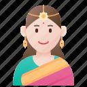 costume, ethnic, india, indian, saree icon