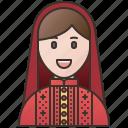 afghan, afghanistan, female, headscarf, muslim icon