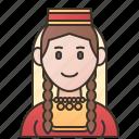 azerbaijan, azerbaijanis, costume, muslim, traditional icon
