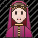 arab, kuwait, kuwaitis, muslim, woman icon