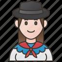 costume, folk, traditional, uruguay, uruguayan icon