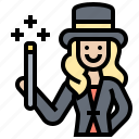 circus, entertainer, female, magician, performer