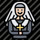 catholic, christian, church, lady, nun