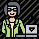 developer, female, hacker, programmer, technician