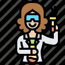 laboratory, researcher, scientist, student, technician icon