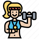 exercise, fitness, gym, trainer, women icon