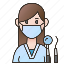 dentist, doctor, female, orthodontist, professional