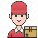 delivery, driver, job, postman, service icon