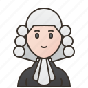 attorney, court, judge, lawyer, woman icon